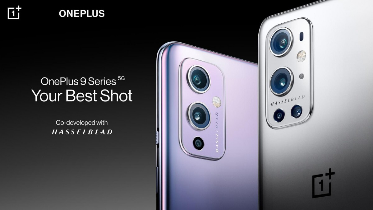 OnePlus 9 in Winter Mist and OnePlus 9 Pro in Morning Mist