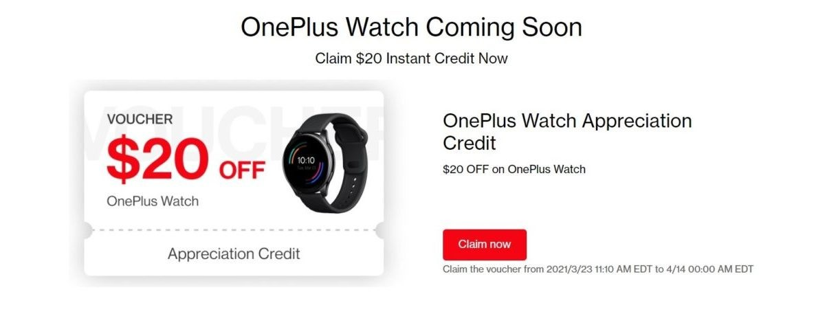 You can already get $20 off the new OnePlus Watch