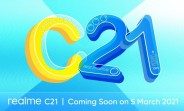 Realme C21 full specs and design revealed by retailer ahead of March 5 unveiling