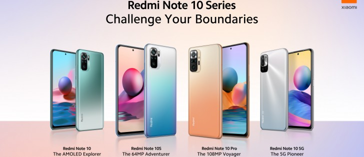 Redmi Note 10 Pro, Note 10, Note 10S and Note 10 5G make global debut
