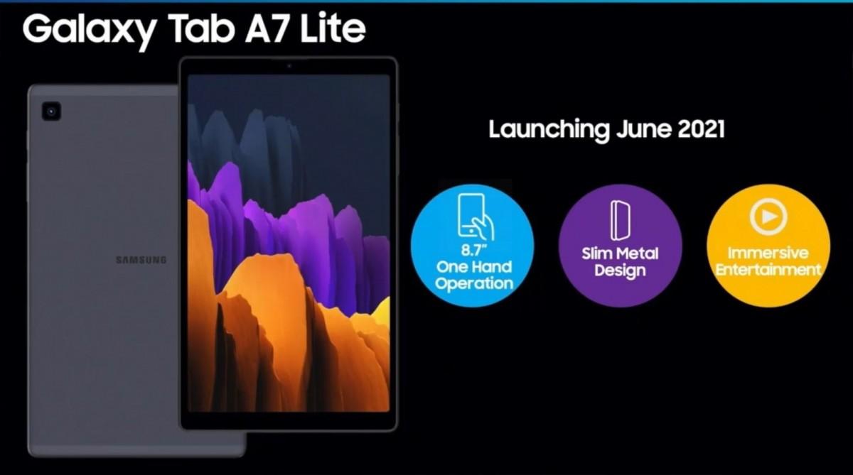 Samsung Galaxy Tab A7 Lite specs and render surface - GSMArena.com news