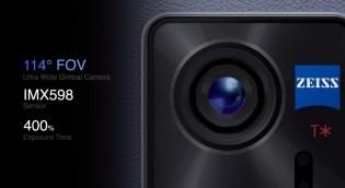 Pivot sabitleme sistemli 48MP ultra geniş kamera