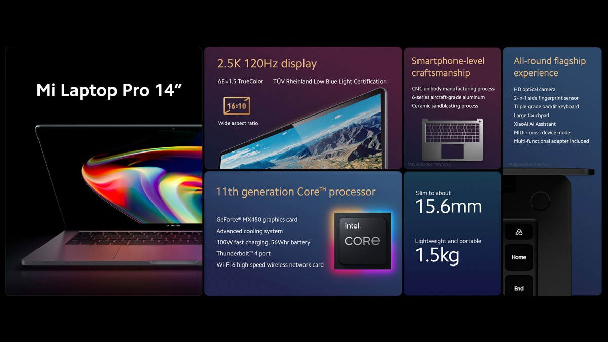 Xiaomi announces 15'' laptop with E4 OLED display, 14'' model with 120 Hz LCD follows