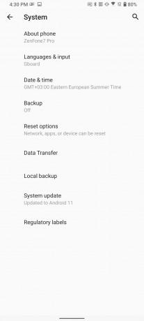 Mise à jour Asus Zenfone 7/7 Pro Android 11