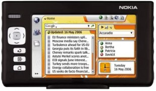 The Nokia 770 Internet Tablet from 2005 was a very early attempt at the \