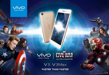 The vivo V3 and V3Max were featured in Captain America: Civil War