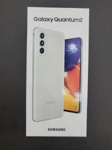 Samsung Galaxy Quantum2 (aka Galaxy A82) in its retail package for SK Telecom