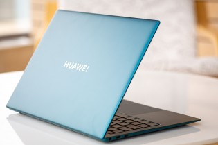 The Huawei MateBook X Pro 2021, front and rear