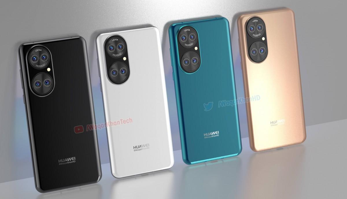 Huawei P50 leaks in high-quality renders