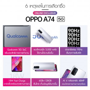 Oppo A74 5G highlights