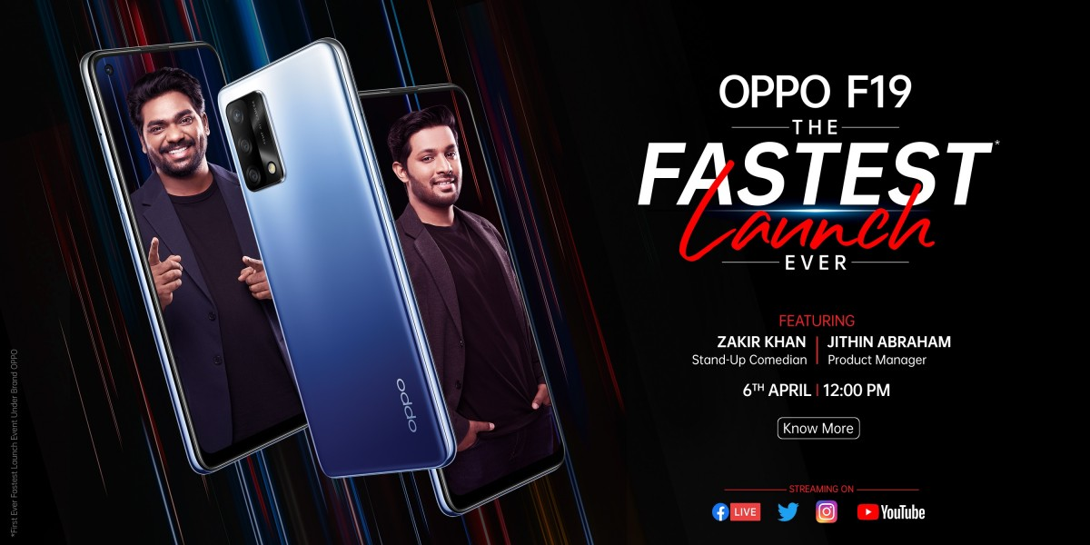 Oppo F19 unveiled, company sets April 6 launch event for India