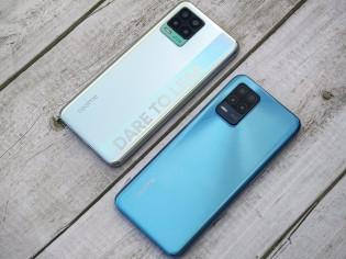 Realme 8 Pro y Realme 8 5G uno al lado del otro