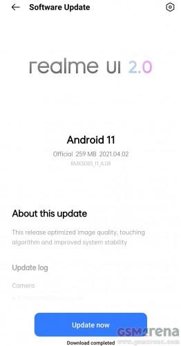 O Realme 8 obtém o modo Starry com uma segunda atualização de software