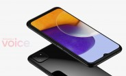 Renders of the Samsung Galaxy A22 5G show the phone from all angles