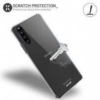Sony Xperia 10 III with a transparent Olixar case