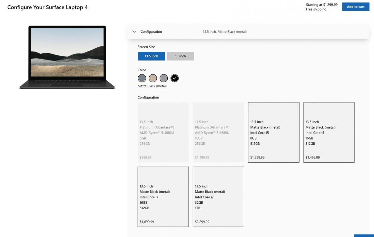 Microsoft anunció Surface Laptop 4 con procesadores AMD e Intel