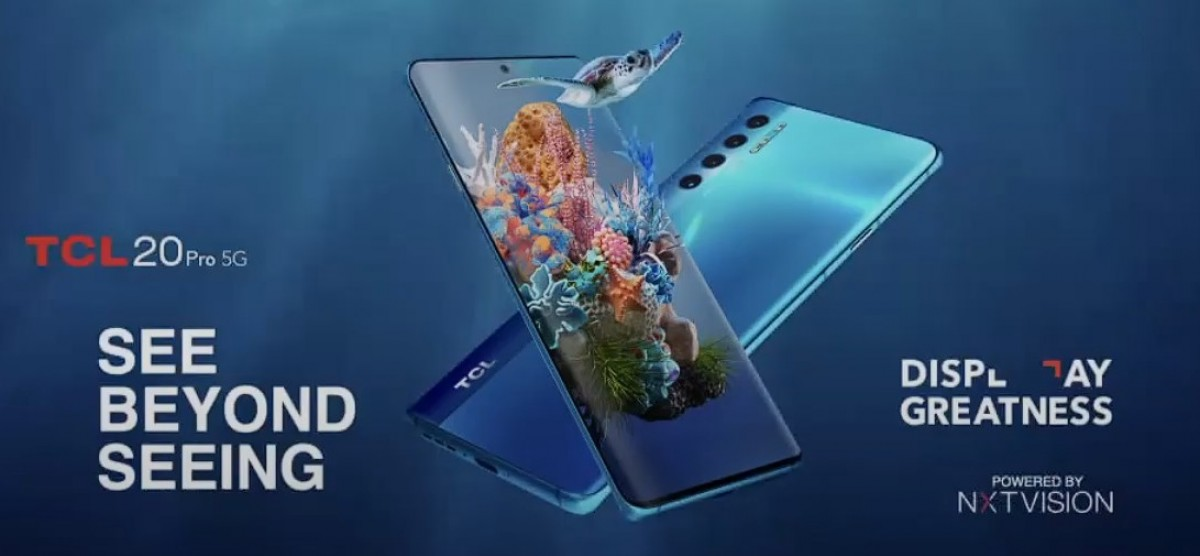 TCL 20 Pro 5G announced with curved OLED, 20L and 20L+ tag along