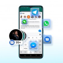 HiOS 7.5 (Android 11) features: Chat bubbles