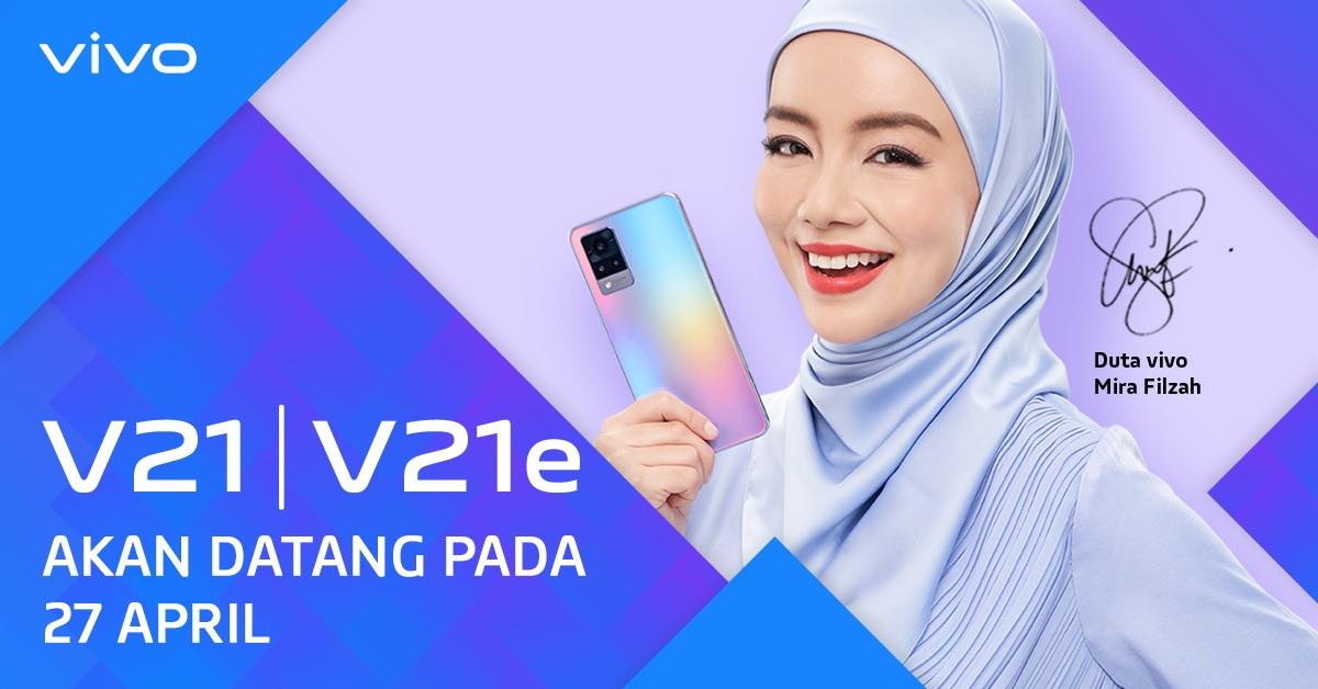 vivo V21 and V21e will be made official on April 27