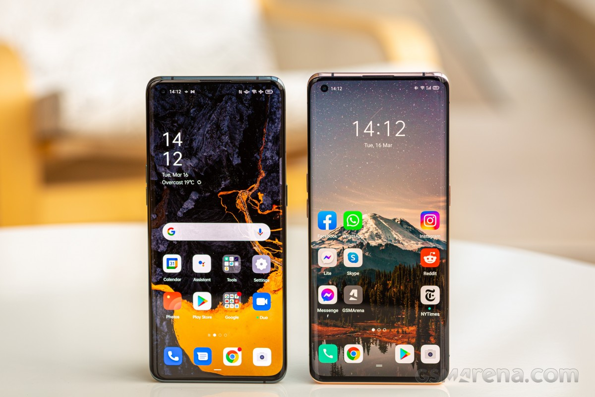 Oppo Find X3 Pro and X2 Pro