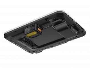 Escáner de código de barras opcional y puerto USB de tamaño completo