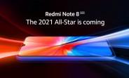 Redmi Note 8 2021's design revealed in new teaser