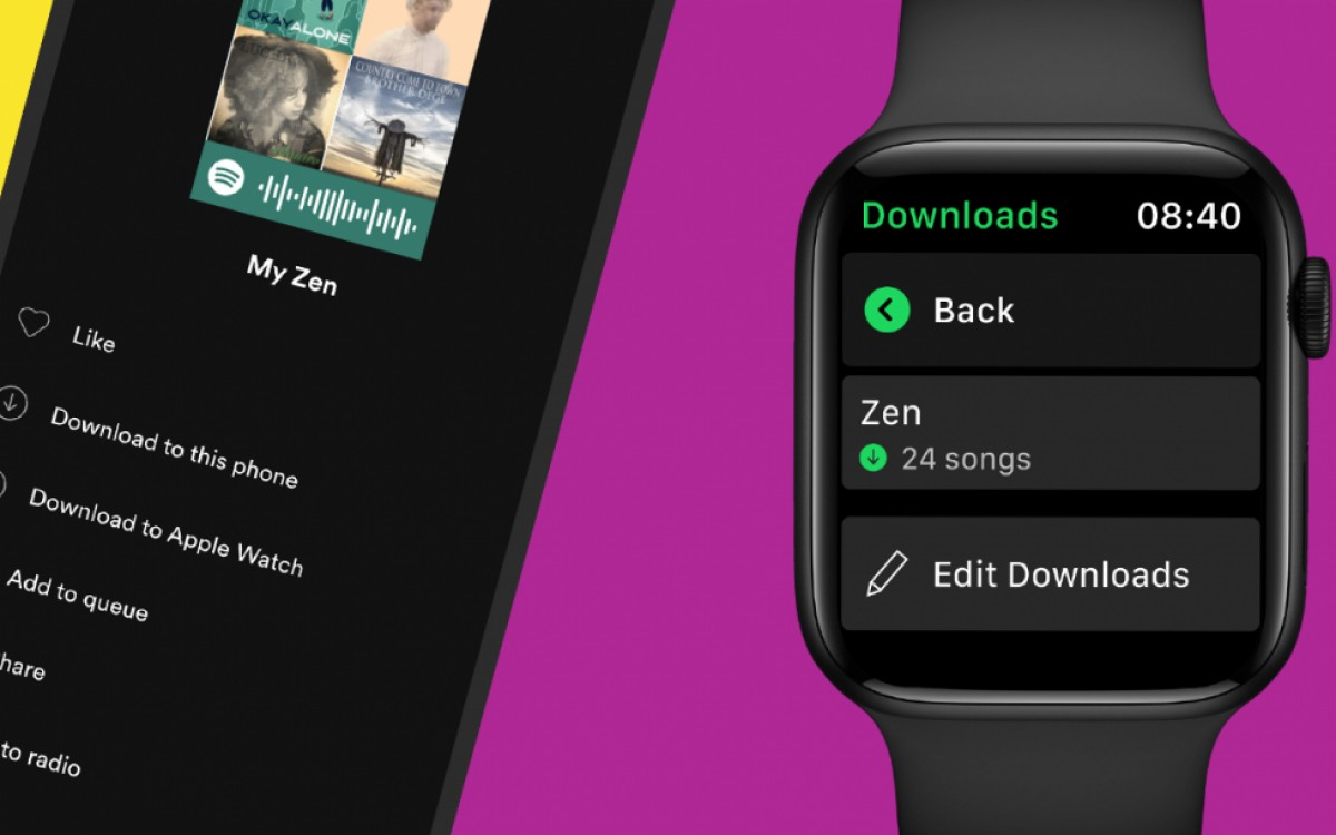 Spotify now allows you to download songs to your Apple Watch