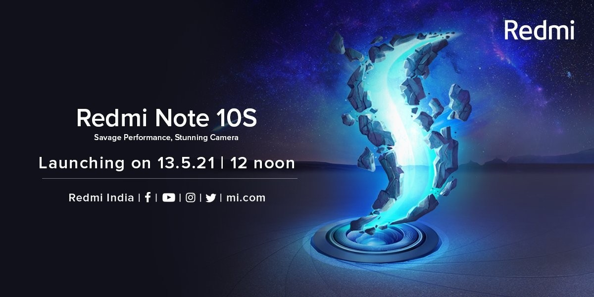 Xiaomi Redmi Note 10S is hitting India on May 13