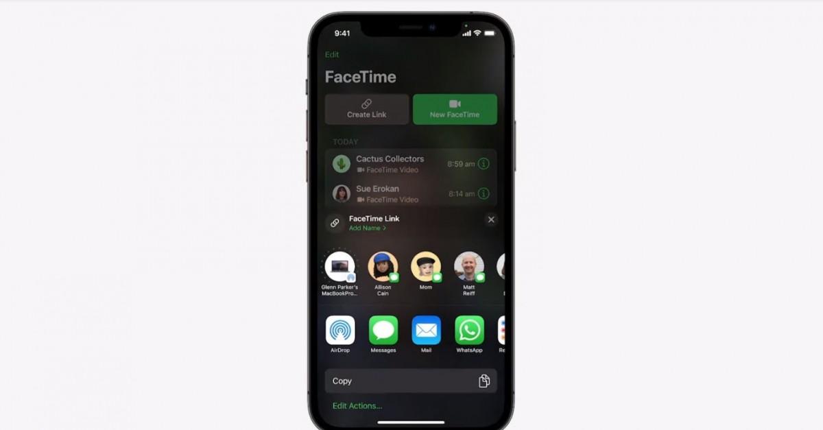 Facetime links on iOS 15
