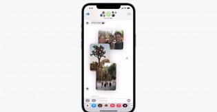 Affichage d'un collage de photos dans iMessage