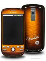 The (HTC) T-Mobile myTouch 3G Fender Limited Edition with the trademark Fender sunburst finish