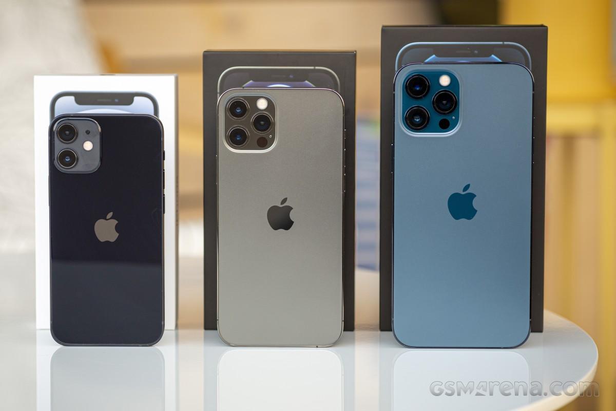 iPhone 12 mini, 12 Pro, and 12 Pro Max