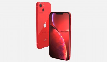 iPhone 13 render in Product Red