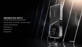 Nvidia GeForce RTX 3080 Ti en 3070 Ti belangrijkste specificaties