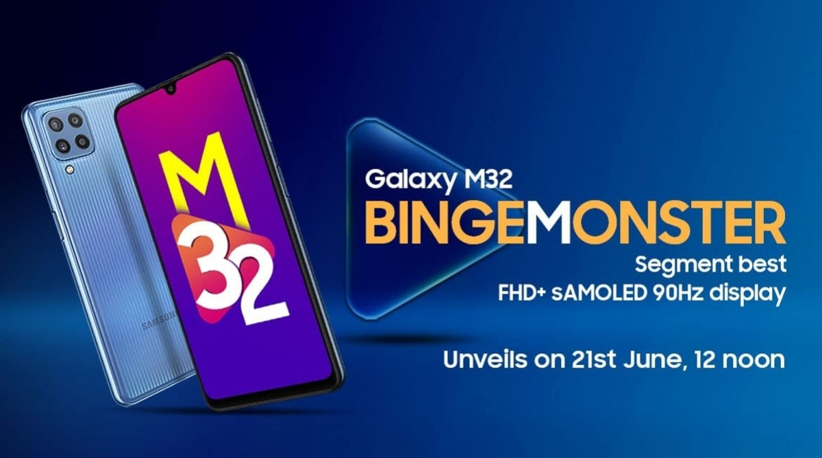Samsung Galaxy M32 to arrive on June 21 with big battery