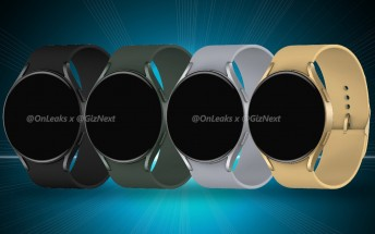 First Samsung Galaxy Watch Active4 renders surface, showing a new, flatter design