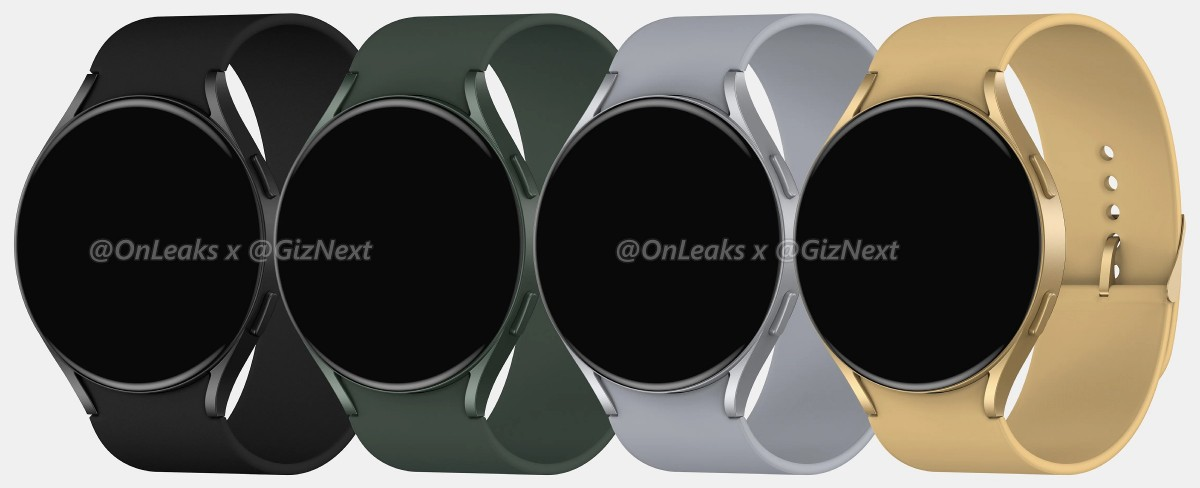 Samsung Galaxy Watch Active4 leaked renders