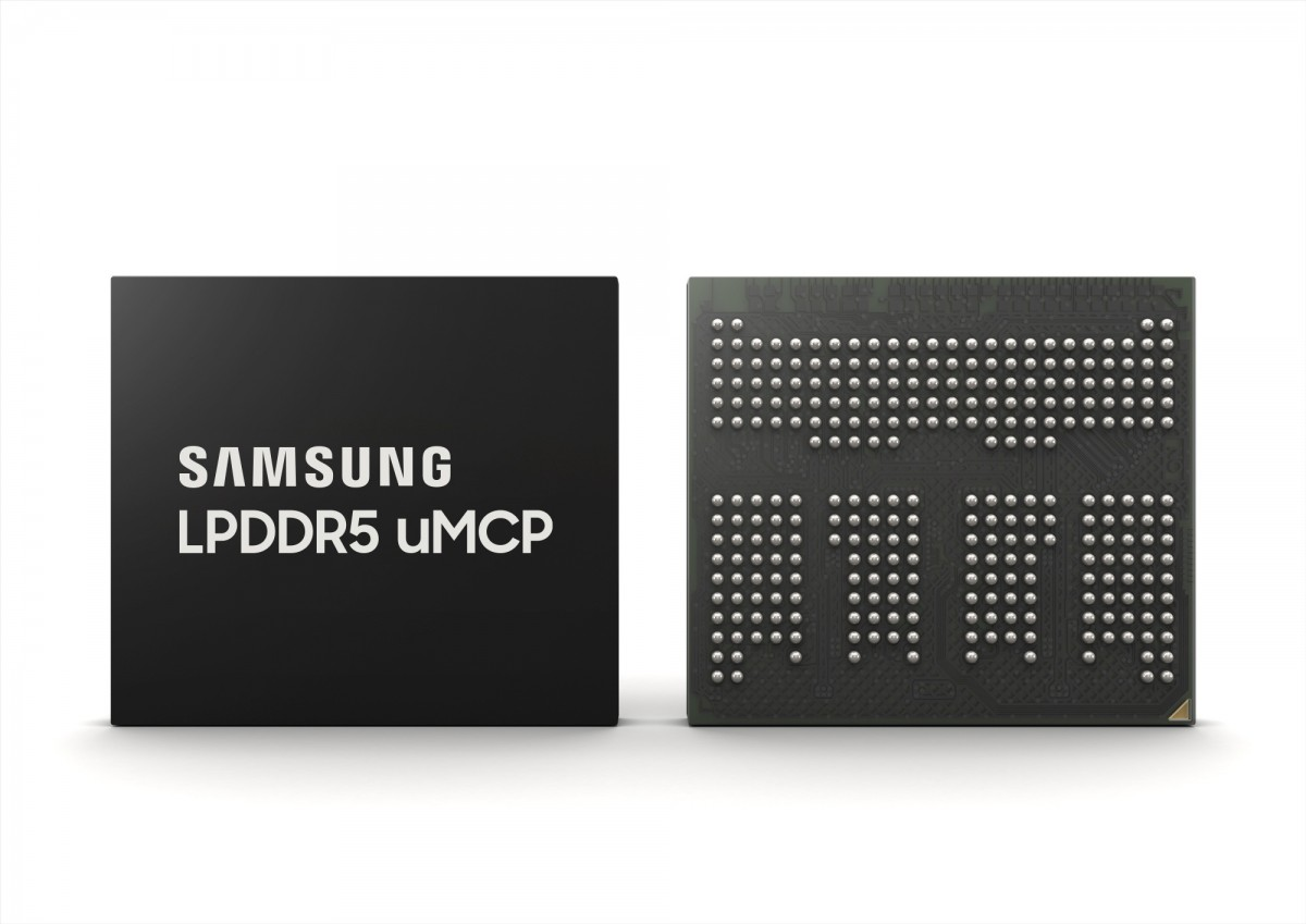 Samsung introduces LPDDR5 uMCP that brings flash and RAM on the same chip