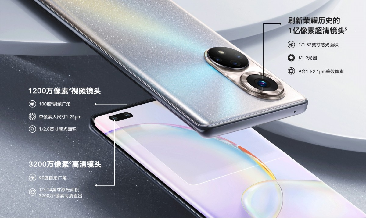 The Honor 50 and 50 Pro have the same 108 MP camera on the back, the Pro has a dual selfie cam