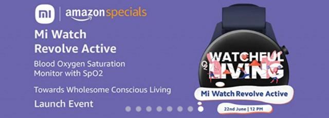 Mi Watch Revolve Active banner on Amazon India