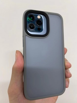 Apple iPhone 12 Pro with an iPhone 13 Pro case