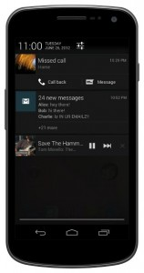 Expandable notifications with actions