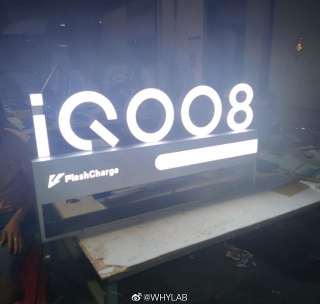 iQOO 8 marketing prop with FlashCharge branding