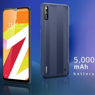 5,000 mAh battery