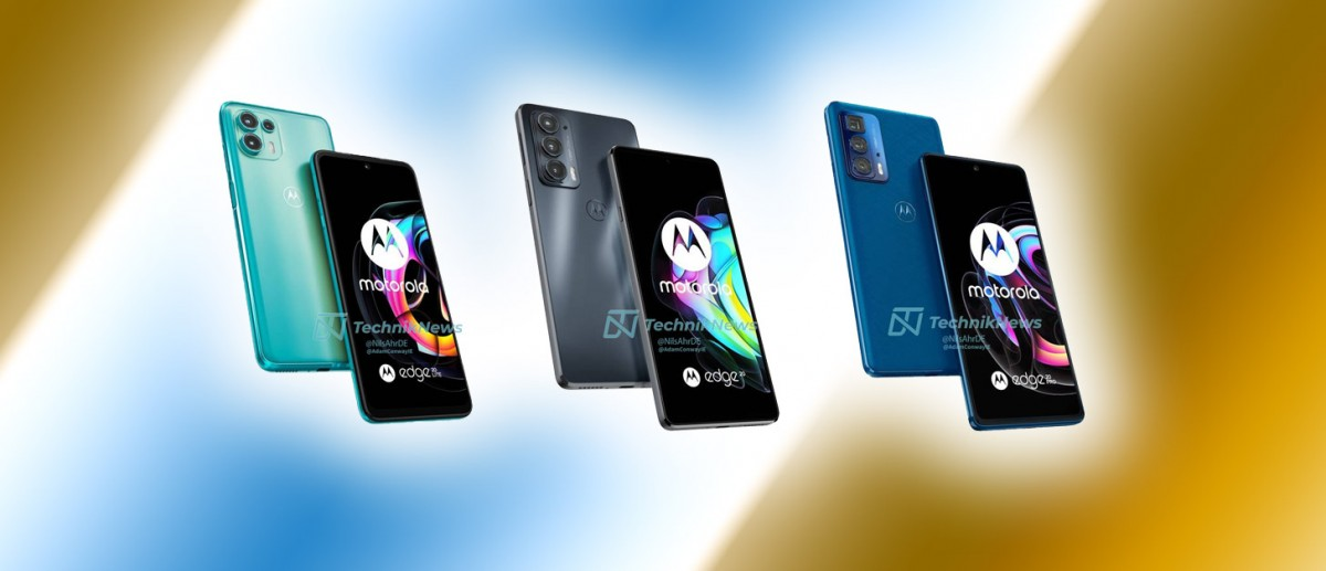 Motorola Edge 20, Edge 20 Pro, Edge 20 Lite renders reveal phones in full