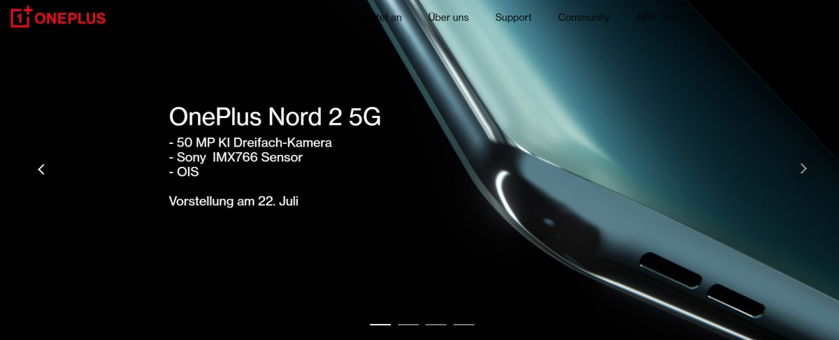 OnePlus Nord 2 leaks in red