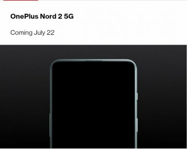 The OnePlus Nord 2 5G is coming on July 22