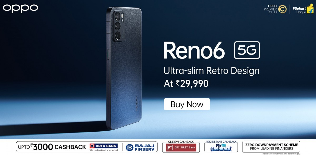 Oppo Reno6 5G goes on sale in India as the country's first Dimensity 900-powered smartphone
