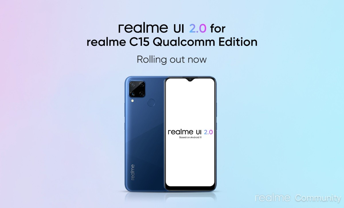 Realme C15 Qualcomm Edition gets Android 11-based Realme UI 2.0 stable update