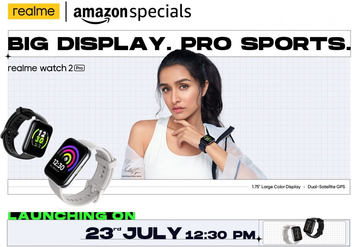 Realme Watch 2 Pro and Buds Wireless 2 Neo launching in India on July 23